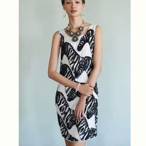 Anthropologie Maeve sequined zebra sheath dress